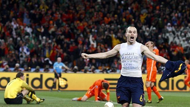 Iniesta marcó el gol que hizo a España campeona del mundo