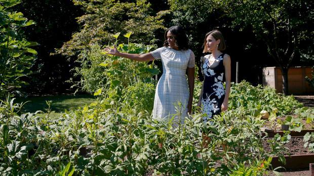 La Reina con Michelle Obama, el pasado septiembre en la Casa Blanca