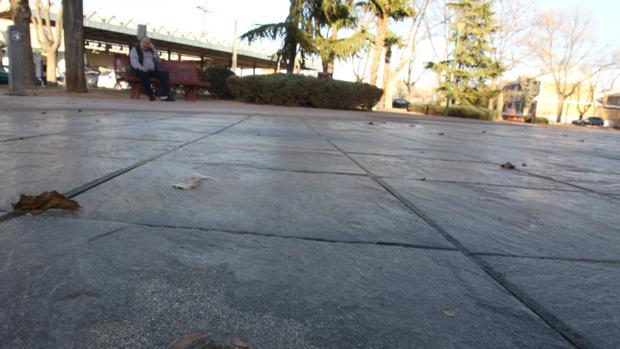Fuente situada junto a la estación de autobuses de Manzanares