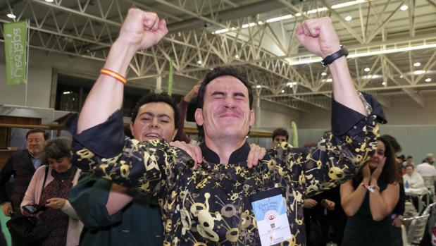 Ismael González tras alzarse con la victoria