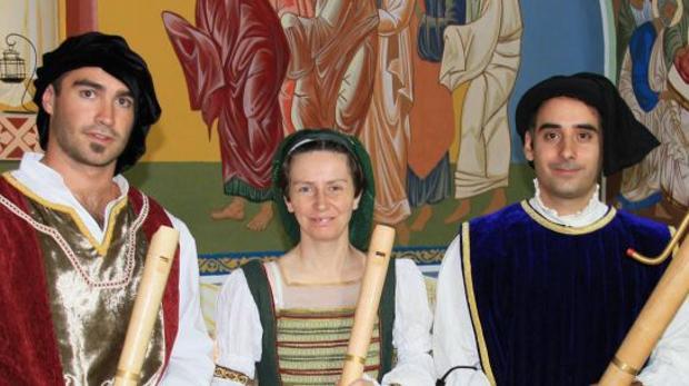 José Menéndez, Silvia Rodríguez y Gonzalo Alonso, componentes de Piacere di Flauti