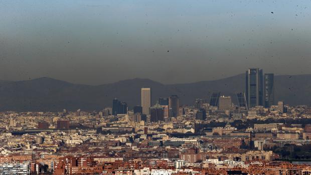 La «boina» de contaminación sobre Madrid