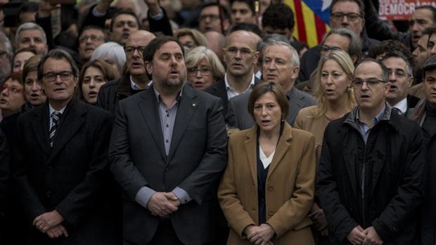 Oriol Junqueras, Artur Mas, Carme Forcadell y Jordi Turull