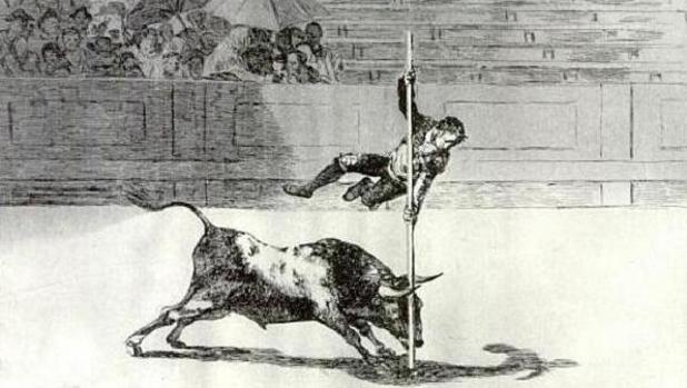 El salto a la garrocha es uno de los grabados más conocidos de «La Tauromaquia» de Goya