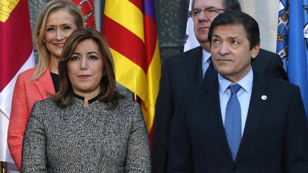 Cristina Cifuentes (Madrid), Susana Díaz (Andalucía), Javier Fernández (Asturias), Juan Vicente Herrera (Castilla y León)