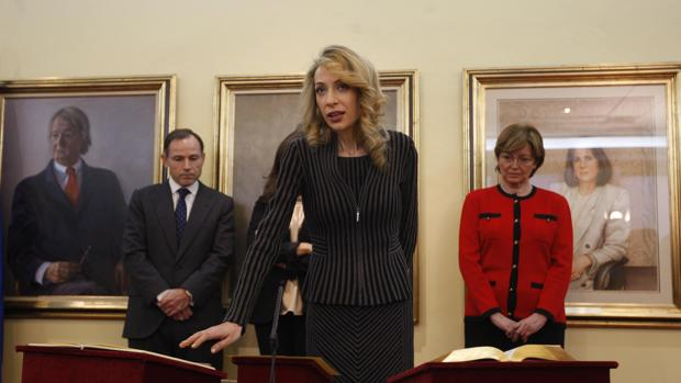 Edelmira Barreira, en su toma de posesión como directora adjunta de gabinete de Vicepresidencia