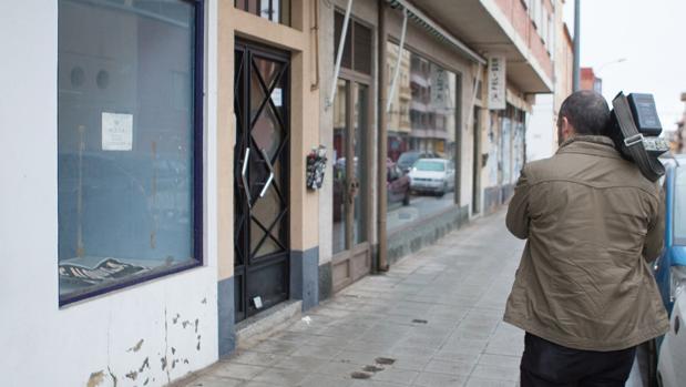Portal de la calle Arapiles, en el barrio de Los Bloques, en Zamora, donde tuvo lugar el suceso
