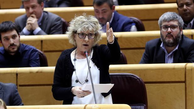 Mirella Cortés durante su intervención en el Senado