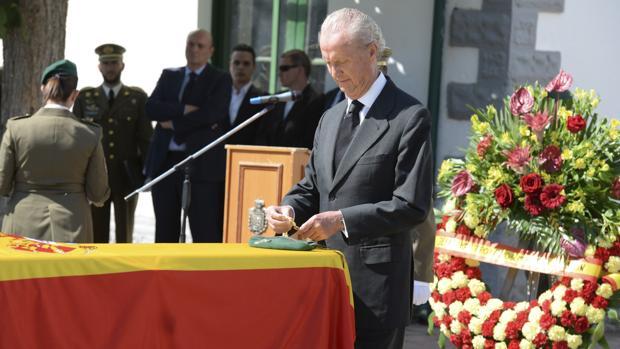 Morenés, en uno de sus últimos actos como ministro de Defensa el pasado octubre