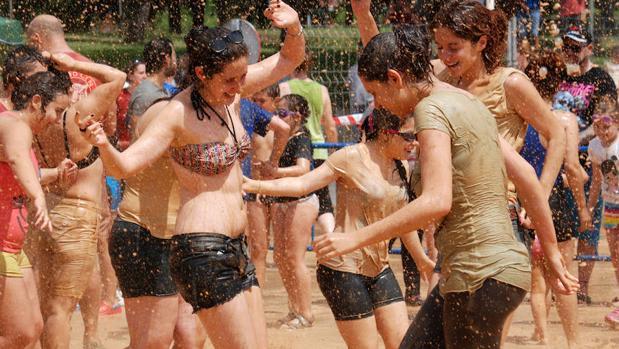 Imagen de la primera barrada celebrada en Talavera el pasado año