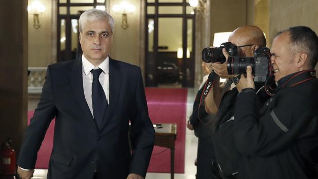Germà Gordó, en el Parlament