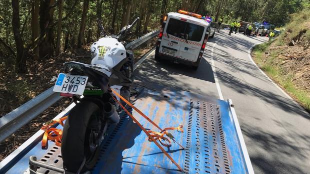 Vehículo en el que viajaban las dos víctimas mortales