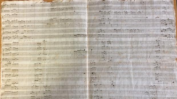 La partitura descubierta en la Catedral de Orihuela
