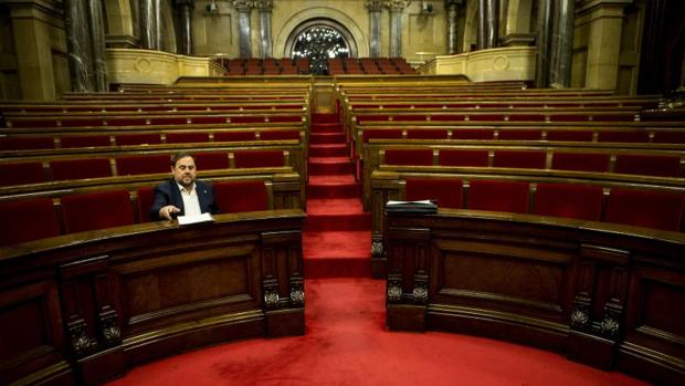 Junqueras, en el Parlamento de Cataluña