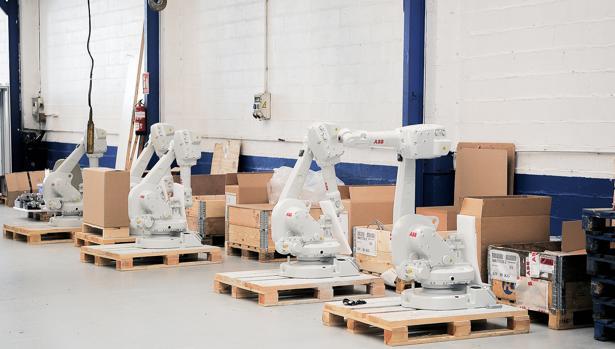 Robots en las instalaciones de Unimate Robótica en Vigo