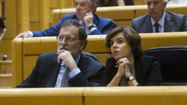 Mariano Rajoy y Soraya Sáenz de Santamaría, en una imagen de archivo