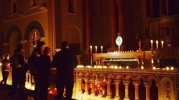Imagen de archivo de la celebración de la «Nightfever» en una iglesia