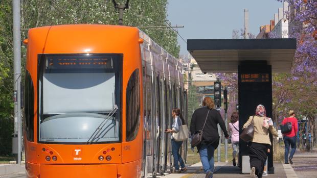 Imagen de archivo de una de las unidades del Tram