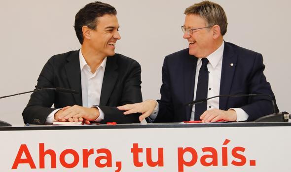 Pedro Sánchez y Ximo Puig, este lunes en Valencia