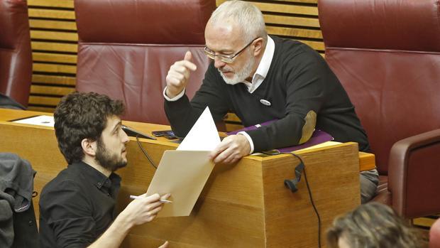 Antonio Estañ y Antonio Montiel, este jueves en las Cortes Valencianas