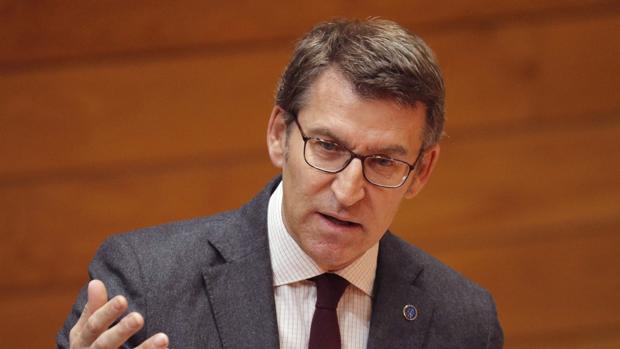 Feijóo, en la sesión de control del Parlamento de Galicia