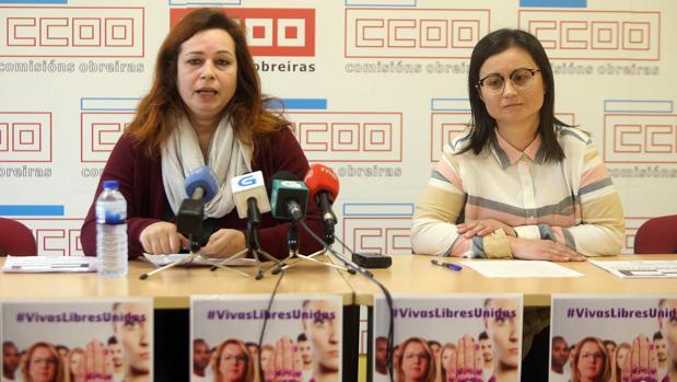 La economista Silvia Parga y la responsable de Muller de CCOO, ayer en rueda de prensa