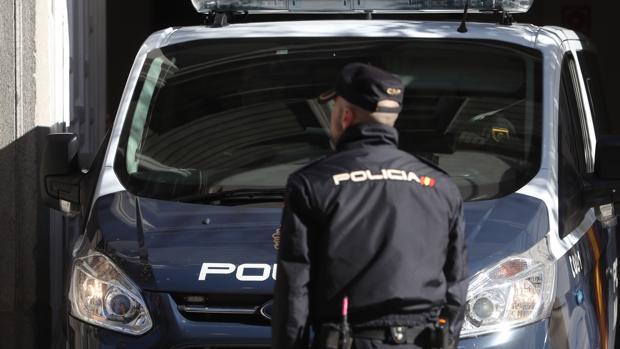 Llegada del furgón de la Policía Nacional con Jordi Sánchez al Tribunal Supremo