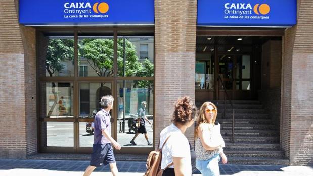 Una sucursal de Caixa Ontinyent en Valencia