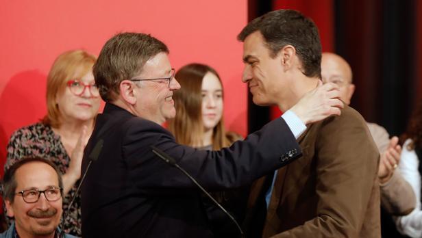 Imagen de Puig y Sánchez tomada este jueves