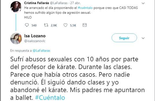 Captura del tuit de Isabel Lozano