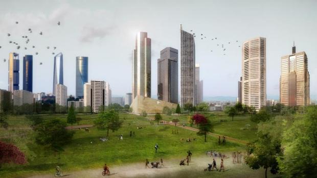 Recreación del aspecto que tendrá el proyecto presentado por Distrito Castellana Norte (DCN)