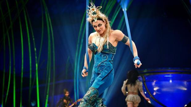 Imagen de un espectáculo del «Cirque du Soleil»