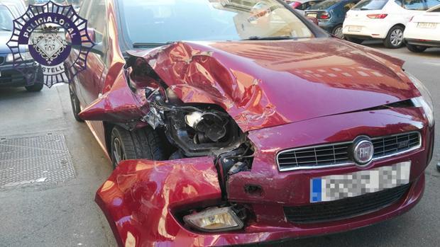Imagen del coche que conducía el joven