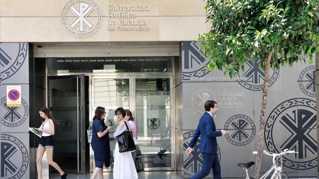 Imagen de una de las sedes de la Universidad Católica de Valencia tomada este jueves