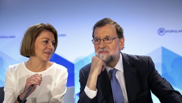 Reunión de la Junta Directiva Nacional del PP presidida por Mariano Rajoy y María Dolores de Cospedal