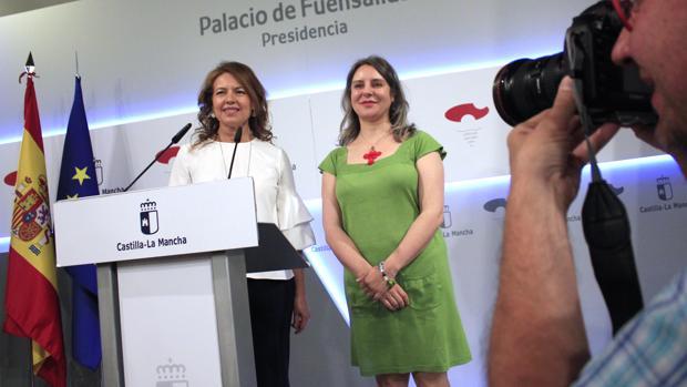 Araceli Martínez, junto a Aurelia Sánchez