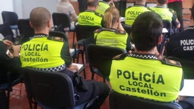 Imagen de archivo de un grupo de agentes de la Policía Local de Castellón