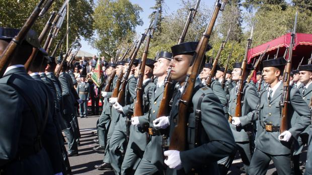 Acto central de la celebración de la festividad de la Virgen del Pilar, patrona de la Guardia Civil, en Toledo