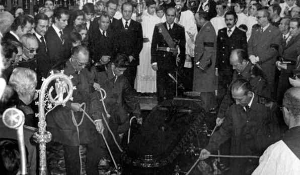 Gabino Abánades, el operario más joven de los cuatro que descendió el féretro de Franco