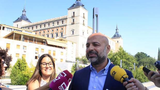 García Molina, durante la rueda de prensa