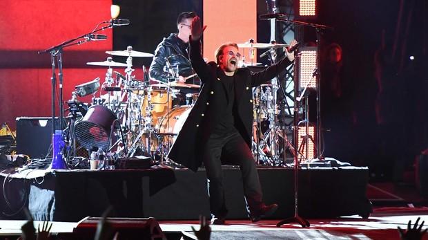 Bono, de U2, durante una actuación