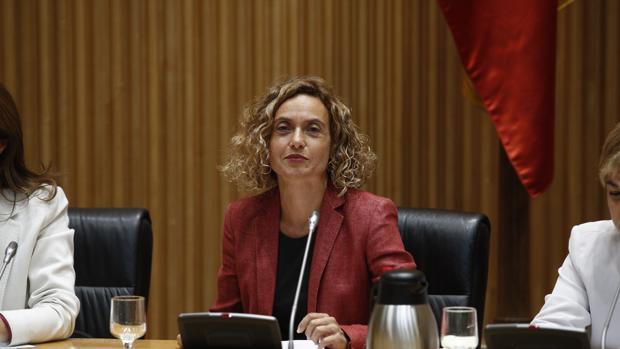 La ministra de Política Territorial, Meritxell Batet, durante la comisión en el Congreso