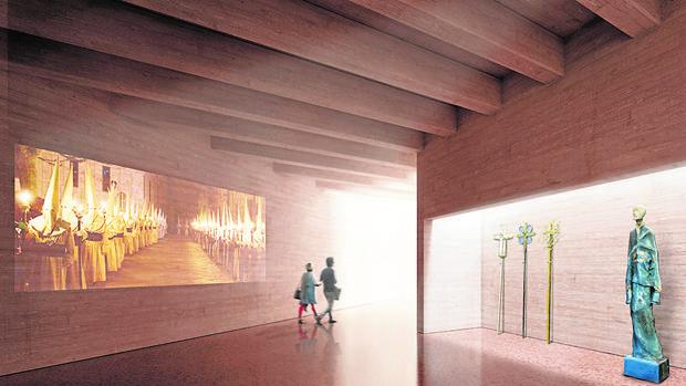 Recreación del interior del nuevo Museo de la Semana Santa de Zamora