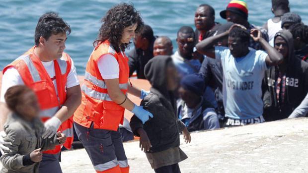 Menores no acompañados llegando a España
