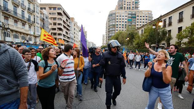 Imagen de los altercados registrados el pasado año en Valencia