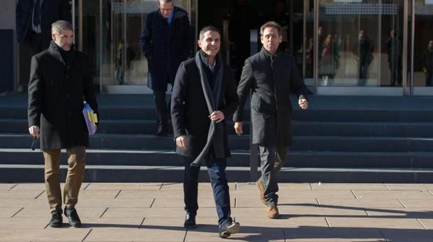 El alcalde de Alcalá de Henares, Javier Rodríguez (PSOE) asiste a la vista en los Juzgados para declarar acusado de prevaricación administrativa.