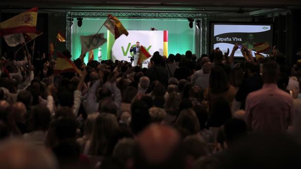 Imagen del acto celebrado por Vox este miércoles en Alboraia (Valencia)