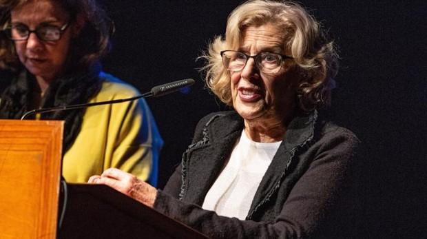 La alcaldesa de Madrid, Manuela Carmena, en uno de sus últimos actos públicos
