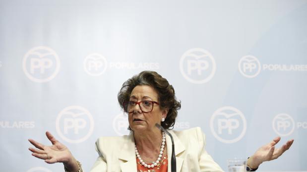 Imagen de Rita Barberá tomada en la sede del PP valenciano en febrero de 2016