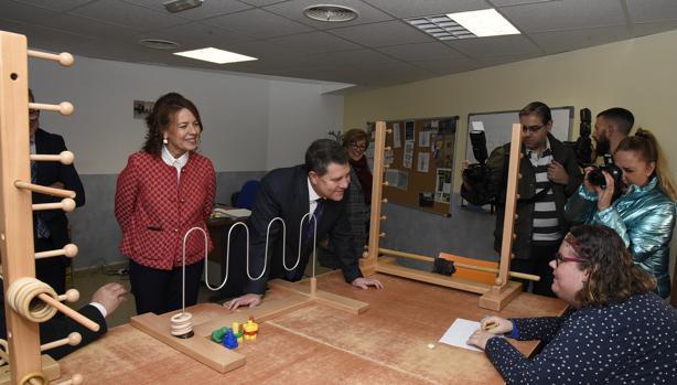 El presidente Page visitó este viernes el centro «Infanta Leonor», en Albacete, para discapacitados